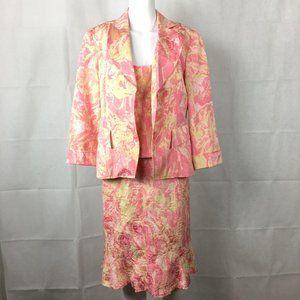 Julianna Coll Silk Linen 3PC Corset Skirt Suit 6